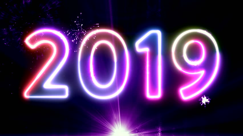 New year text animation background. new year abstract background. Elegant golden christmas balls premium background.Bokeh Colorfull Blurred holiday art Abstract Background.New Year's Countdowns back.    Shutterstock HD Video #1020755101