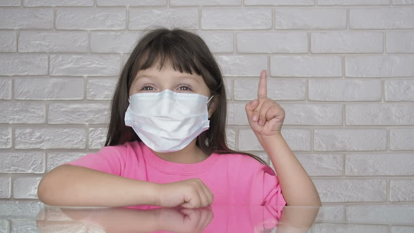 Child Stockvideos Shutterstock Surgical amp; 100 Mask Wearing 1020891781 Lizenzfrei Filmmaterial Showing