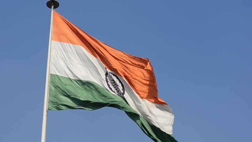 Indian National Flag, the Tricolor Stock Footage Video (100% Royalty-free)  1021270801 | Shutterstock