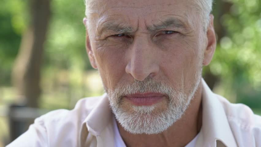 Mature man feeling sudden sharp pain in head, migraine attack, risk of thrombus #1021330801