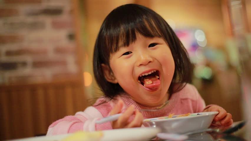 Japanese girl at dinner   Shutterstock HD Video #1021433461