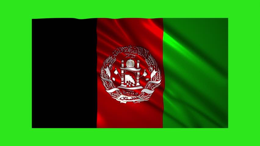 Afghanistan flag waving,loopable on green screen | Shutterstock HD Video #1021565941
