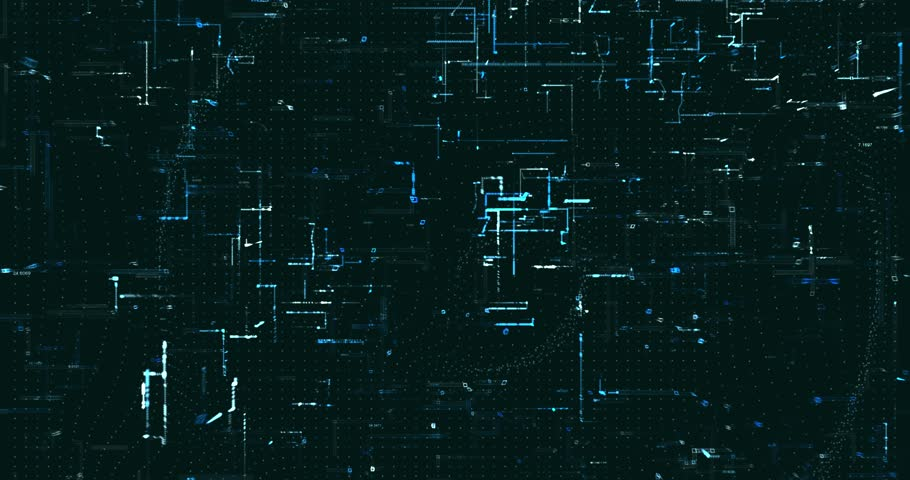 Abstract digital data background | Shutterstock HD Video #1021605271