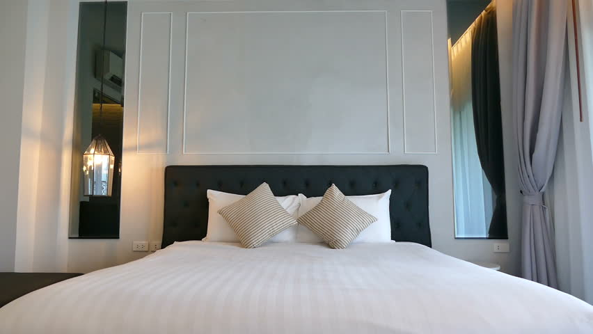 Decoration in bedroom interior  | Shutterstock HD Video #1021706431