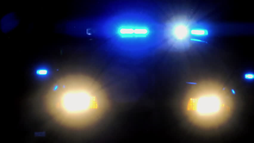 Police car flashing emergency vehicle lights at night, loop | Shutterstock HD Video #1021782901