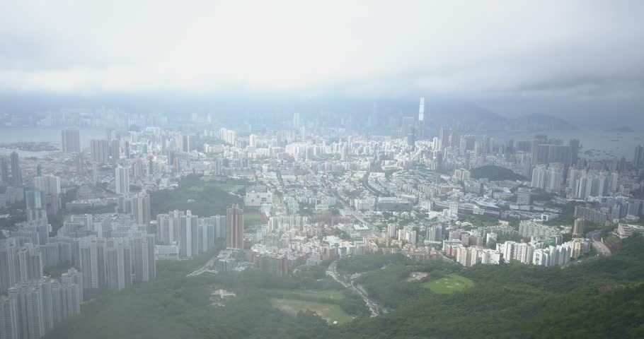 Static aerial view of Hong Kong city | Shutterstock HD Video #1021938661