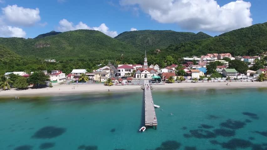 aerial shot Martinique Beach