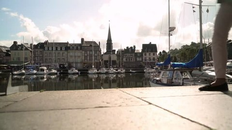Honfleur - a Touristic and Beautiful French Village in Normandy in Europe