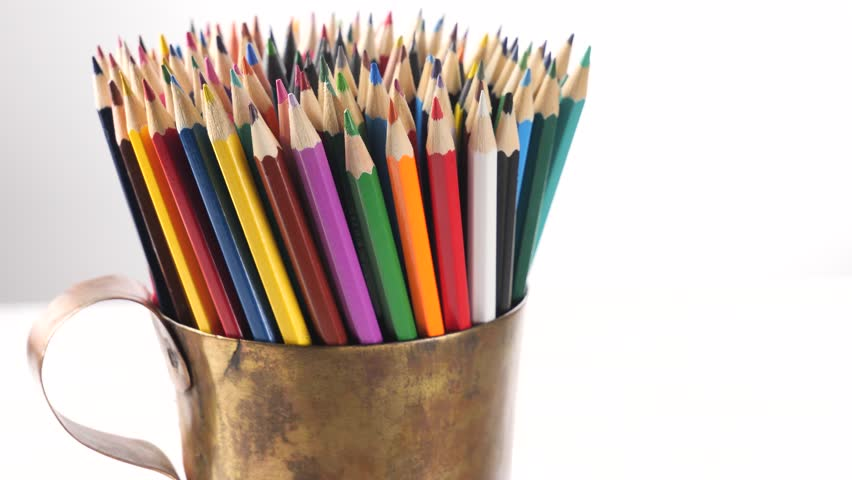 Color pencils for drawing in motion | Shutterstock HD Video #1022090671