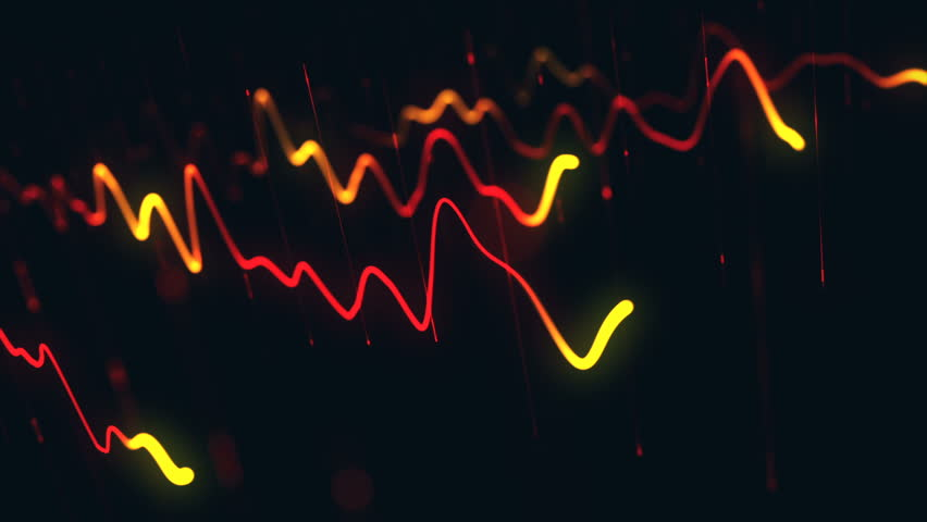 Animation growth of abstract charts with changing values of check points on dark background. Animation of seamless loop.   Shutterstock HD Video #1022110591