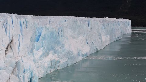 Glaciar Perito Moreno Calafate. Ice Wall in Patagonia