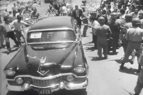 CIRCA 1960s - A communist revolution lead to civil war in Congo during Eisenhower's presidency