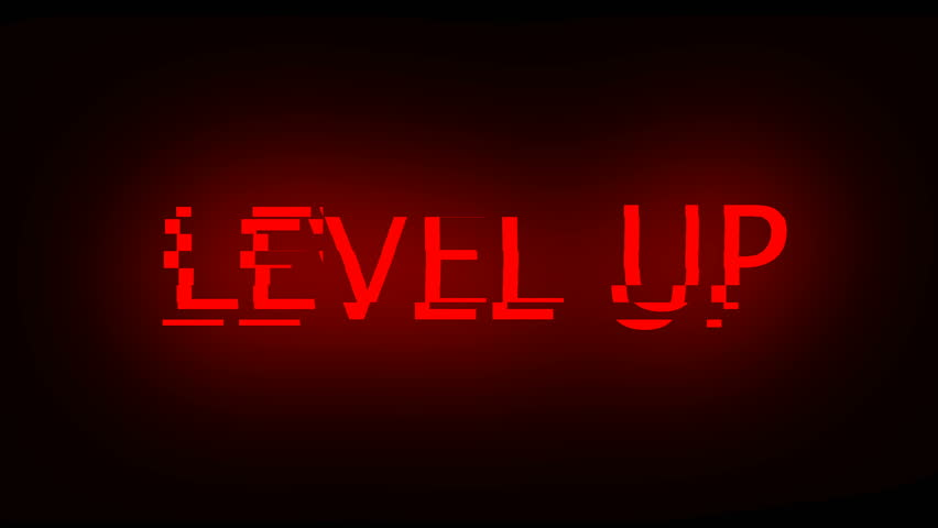 Letters of Level up text with noise on black, 3d rendering background, computer generating for gaming   Shutterstock HD Video #1022259781