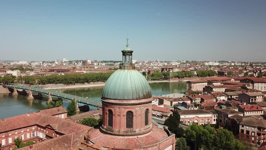 Toulouse city dome of la grave | Shutterstock HD Video #1022333641