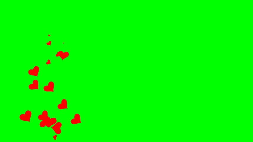 Looped animation on a green background. animated heart. #1022453581