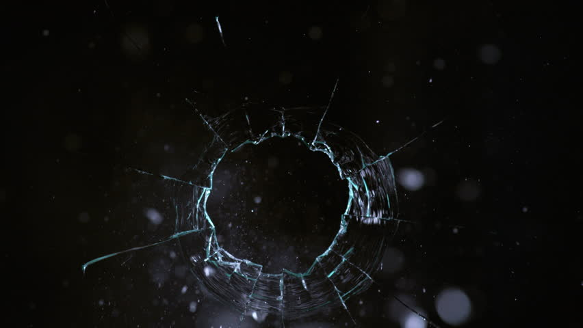 Slow motion shot of bullet shooting through glass, shot with Phantom Flex 4K camera. | Shutterstock HD Video #1022612821