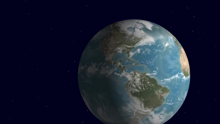 Leaving planet earth. Animation of space travel seeing the globe vanish. | Shutterstock HD Video #1022621641