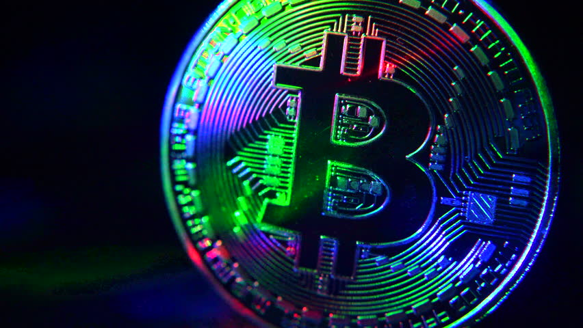 Bitcoin coin on a dark background | Shutterstock HD Video #1022680651