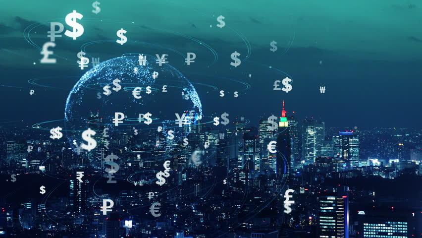 Financial technology concept. FinTech. Foreign exchange.   Shutterstock HD Video #1022684611