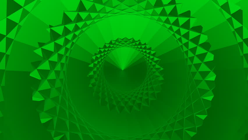 Abstract animated video with concentric rings rotating around the center from volumetric figures in green tones | Shutterstock HD Video #1022872081