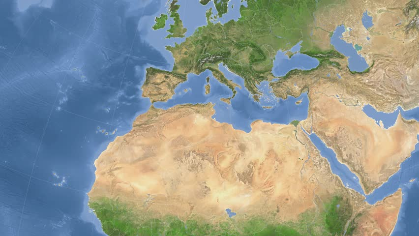 Tunisia Map Stock Footage Video Shutterstock - Tunisia earth map