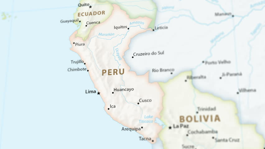 Peru On A Political Map Stock Footage Video 100 Royalty Free