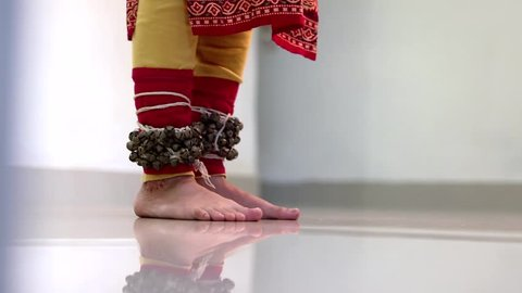 Beautiful girl doing bharat natyam