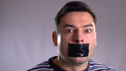 man wants to speak, but she isn t allowed