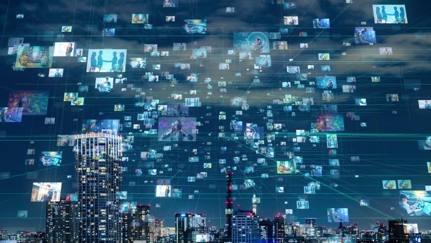 Social networking concept. | Shutterstock HD Video #1023112651