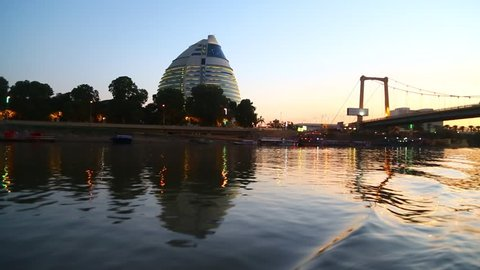 blur in sudan the cruise in the white nilo to the blue nilo the boat the water and sunrise