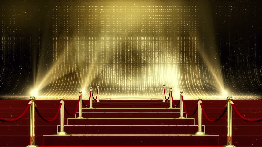 Golden Red Carpet Stage 3d Stock Footage Video 100