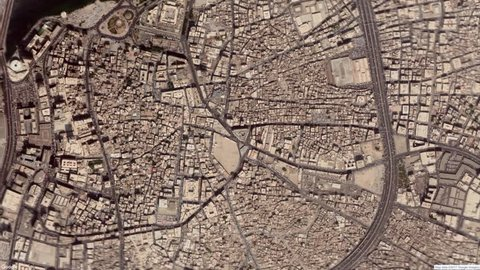 Google Map Zoom To Jeddah, Saudi Arabia 4k Stock Video Footage