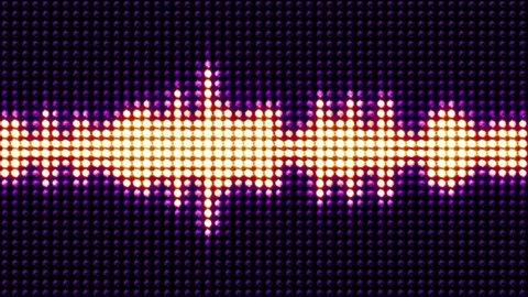 Music equalizer waves, radio, lights bulbs animation, rendering,  background, loop, 4k