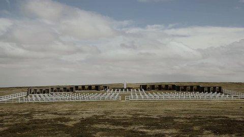 Argentine Falklands War, Tombstones in Darwin Cemetery.