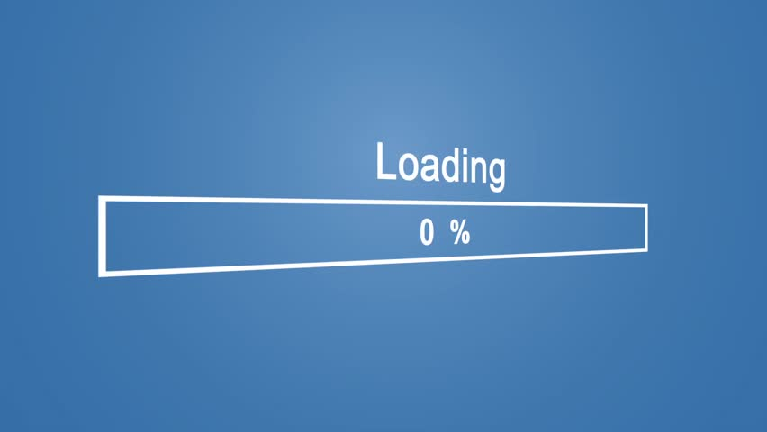 Loading Process Animation on Blue Background | Shutterstock HD Video #1023389911