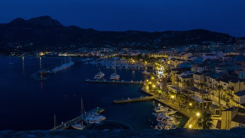 This video is a timelapse night to day, including sunrise, taken from Ajaccio Citadel, Corsica, France.