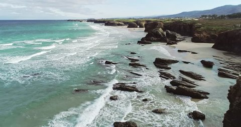Beach of the Cathedrals in Lugo Galicia Spain