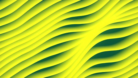 Colorful wave gradient loop animation. Future geometric diagonal lines patterns motion background. 3d rendering. 4k UHD