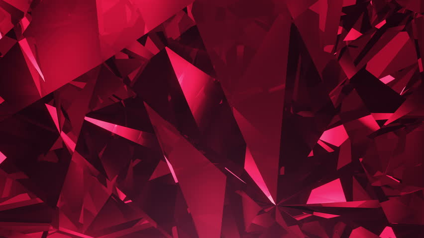 Abstract red 4K diamond  seamlessly looped background