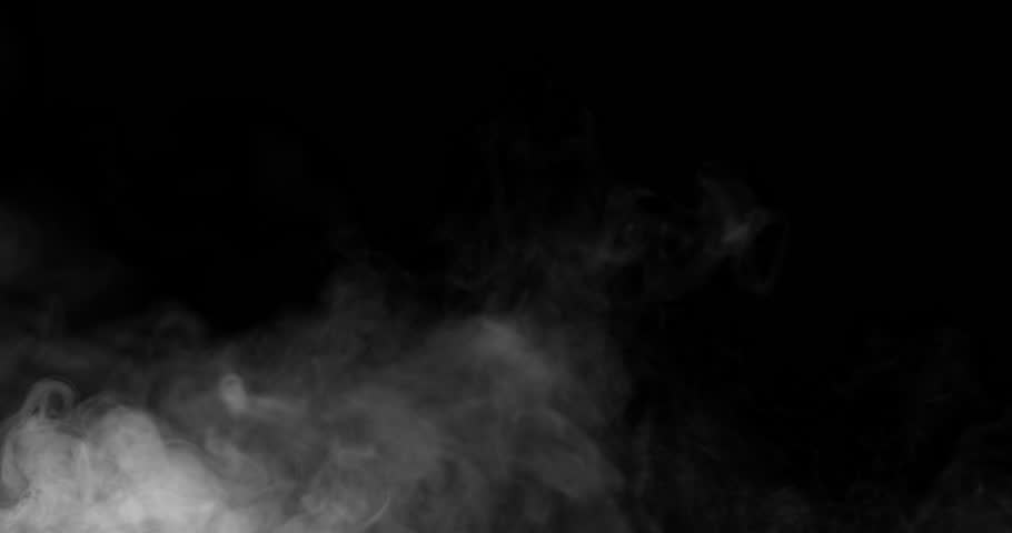 White Smoke Steam Coming From Bottom Left Side On The Black Background. Easy to add to your video. Use Screen blending mode | Shutterstock HD Video #1023595771