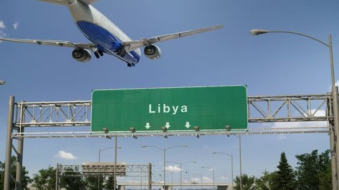 Airplane Landing Libya