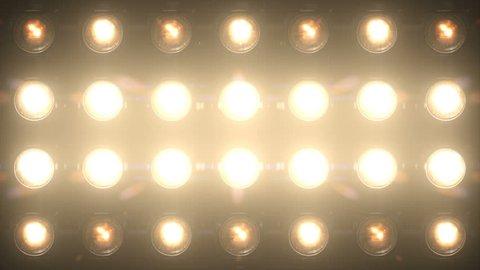Floodlight Lights Flashing Wall VJ Stage  4K Blinder Blinking Flash Club Flashlights Disco Lights Matrix Beam Lights Bulb Halogen Headlamp Lamp Nightclub Turn Off On Loop Lights Array