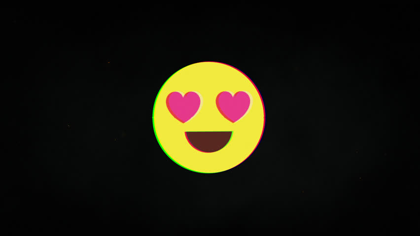 Lovely smile hud holographic symbol on digital old tv screen seamless loop glitch animation. Hearts. Dynamic retro and joyful. Colorful and vintage video footage. | Shutterstock HD Video #1023885841
