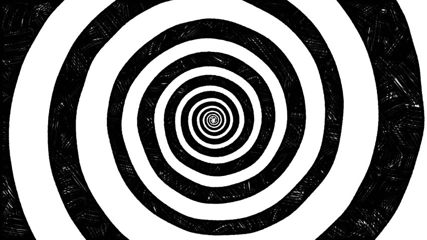 Set of 3 Abstracts Spiral Tunnel Animations. Hand Drawn Style with Stop Motion, Low Frame Rate Effect. #1024047461