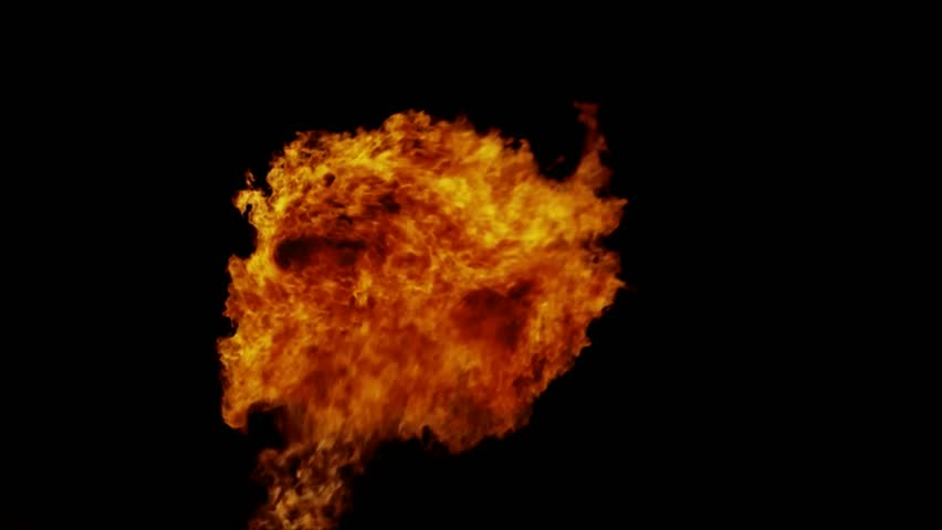 Fireball, realistic fire, FullHD 1080i, hige resolution.   Shutterstock HD Video #1024064741