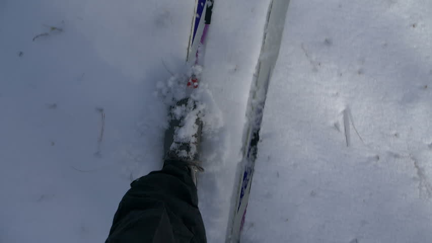 Cross country skiing downward point of view | Shutterstock HD Video #1024172111