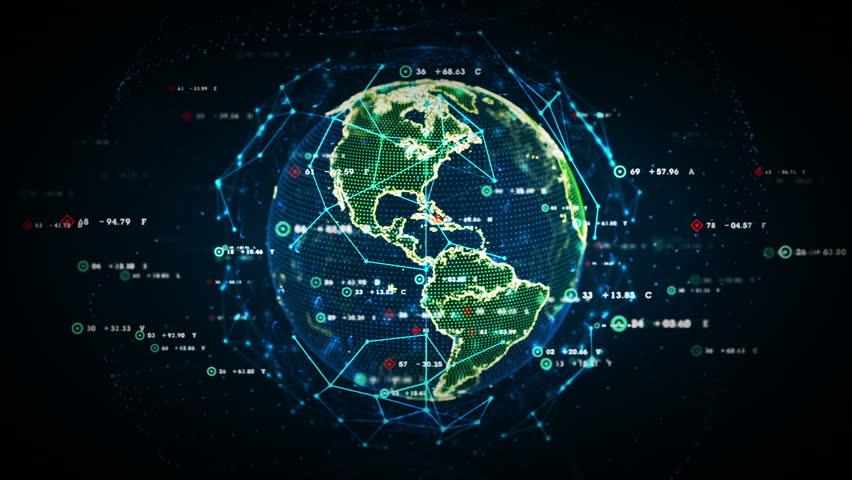Digital world data a stock footage video 100 royalty free 10242821 shutterstock - Digital world hd ...