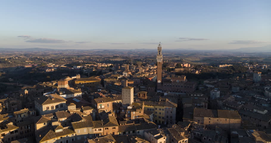 Flyover Siena at Sunset - Italy  | Shutterstock HD Video #1024287461