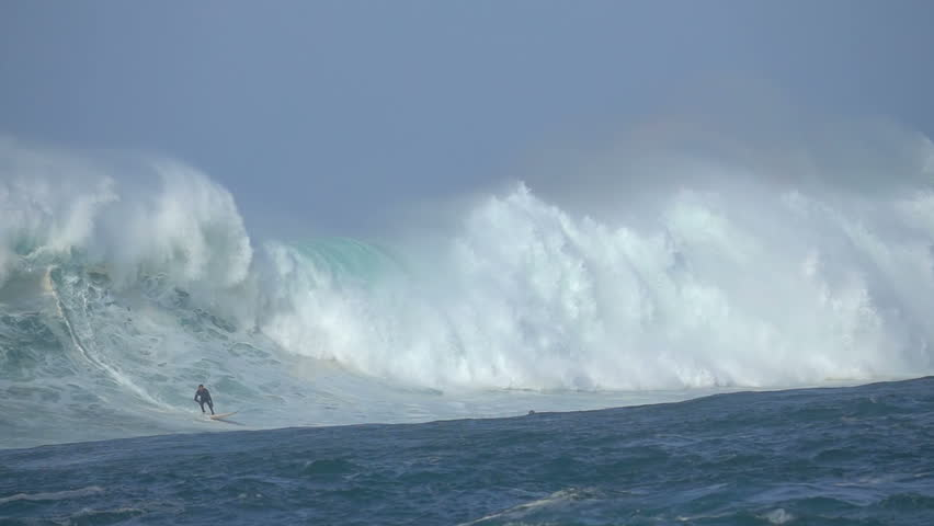 Surf. Big Wave and Surfer great ocean wave sea holidays seascape | Shutterstock HD Video #1024374131