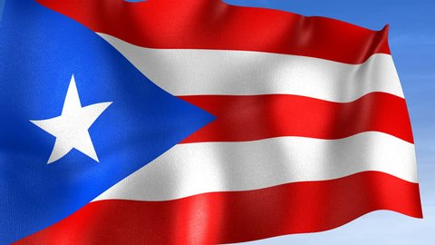 Puerto Rico Flag - Set of 3 Angles with Masks [3WaveSeries]